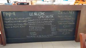 lavagna menu